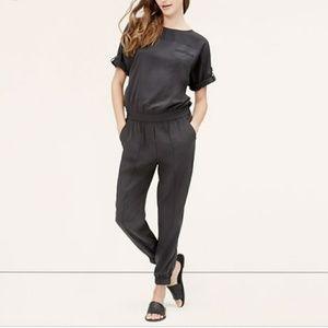 LOFT Slate Fluid Gray Jumpsuit Size 00